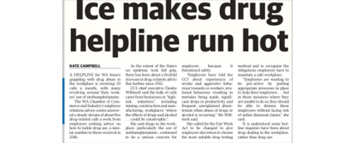 Use of methamphetamines by staff | Illegal Drug Methamphetamines
